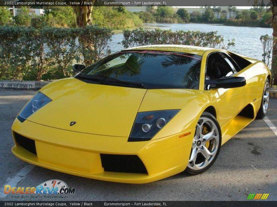 2002 Lamborghini Murcielago Coupe Yellow Black Photo 11