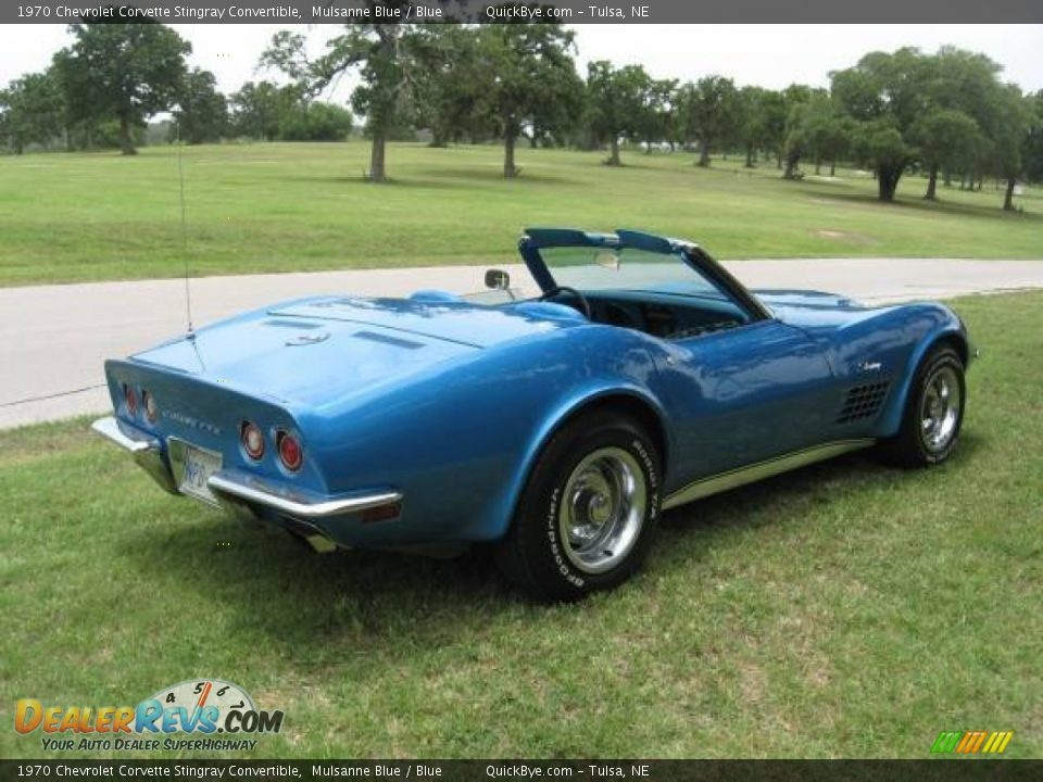 Mulsanne Blue 1970 Chevrolet Corvette Stingray Convertible Photo #3