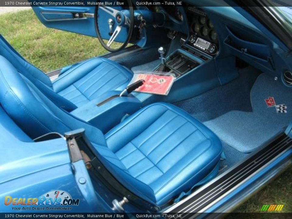 Blue Interior - 1970 Chevrolet Corvette Stingray Convertible Photo #4