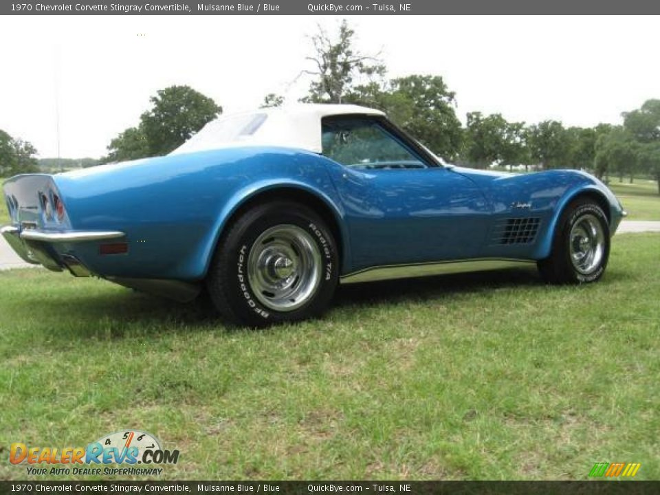 1970 Chevrolet Corvette Stingray Convertible Mulsanne Blue / Blue Photo #8