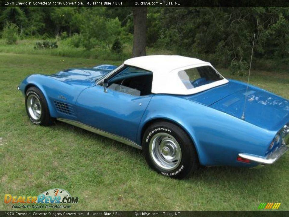 1970 Chevrolet Corvette Stingray Convertible Mulsanne Blue / Blue Photo #10