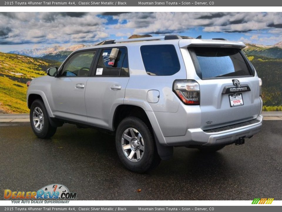 2015 toyota 4runner trail premium 4x4 classic silver metallic black photo 3. Black Bedroom Furniture Sets. Home Design Ideas