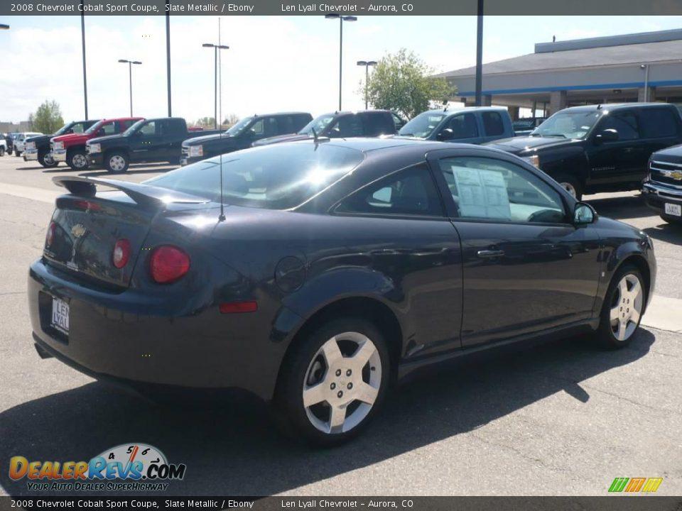 2008 Chevrolet Cobalt Sport Coupe Slate Metallic / Ebony Photo #6 ...