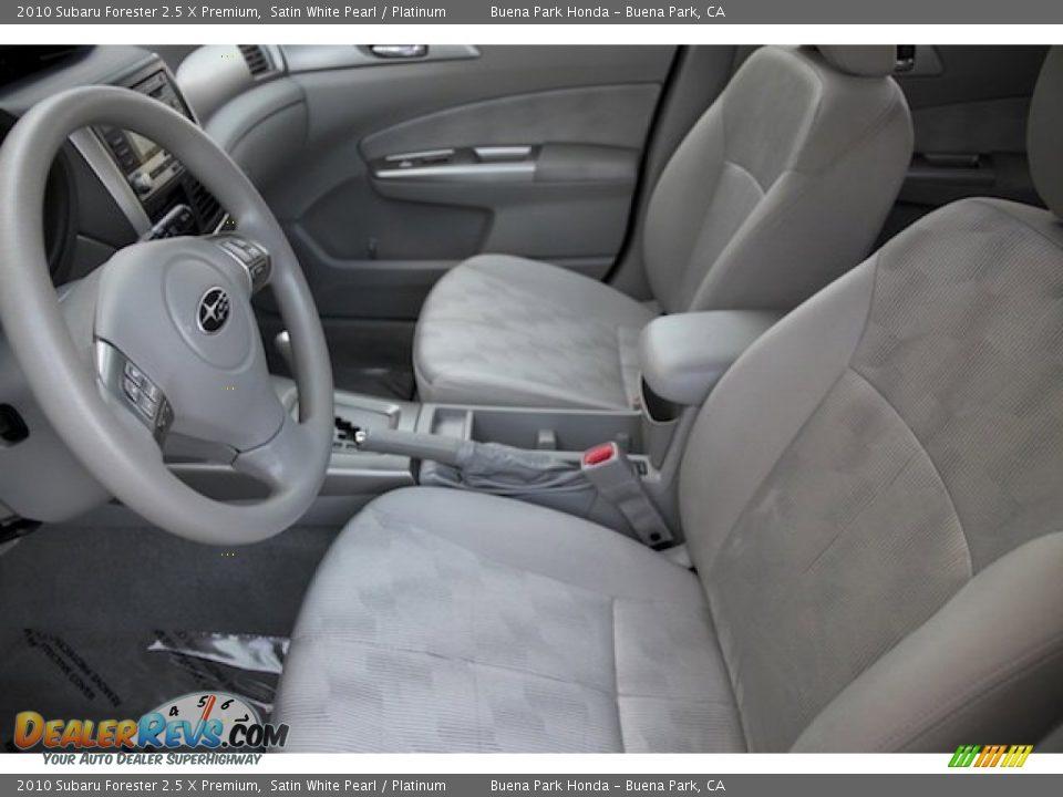 2010 Subaru Forester 2.5 X Premium Satin White Pearl / Platinum Photo #3