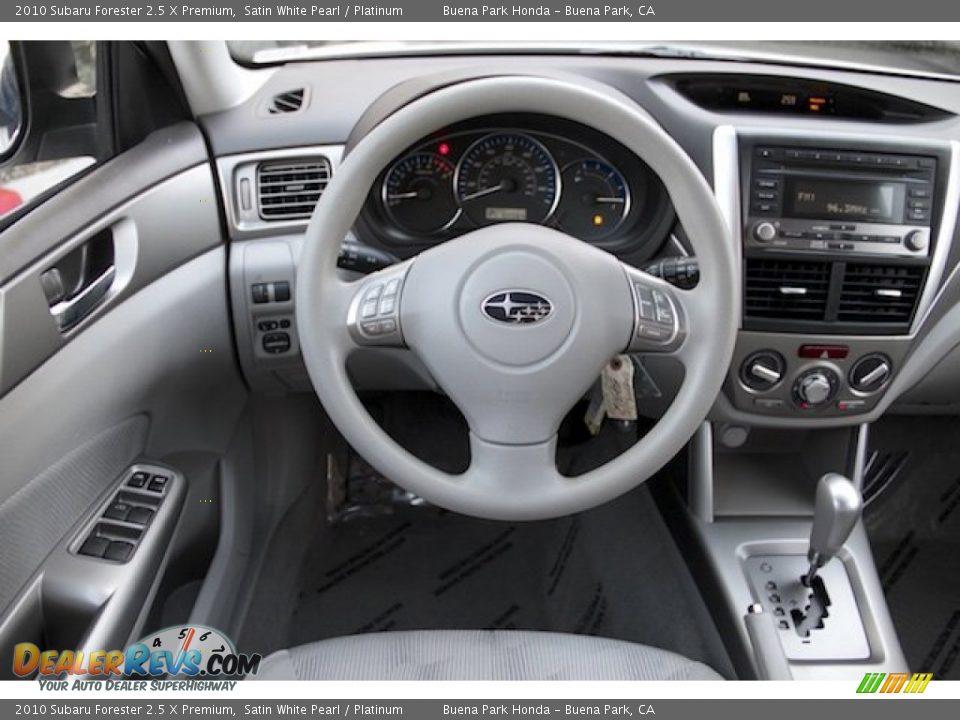 2010 Subaru Forester 2.5 X Premium Satin White Pearl / Platinum Photo #5