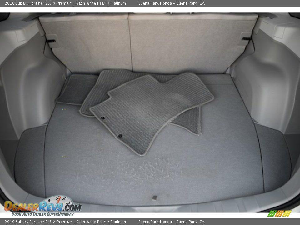 2010 Subaru Forester 2.5 X Premium Satin White Pearl / Platinum Photo #15