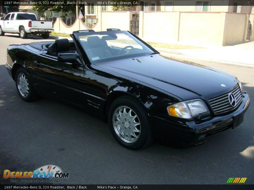 1997 mercedes benz sl 320 roadster black black photo 15. Black Bedroom Furniture Sets. Home Design Ideas