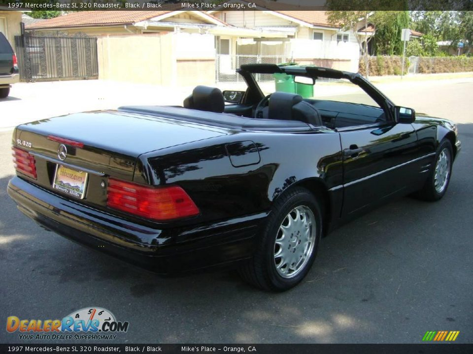 1997 mercedes benz sl 320 roadster black black photo 16. Black Bedroom Furniture Sets. Home Design Ideas