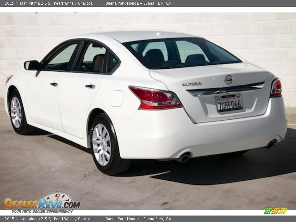 2015 Nissan Altima 2.5 S Pearl White / Charcoal Photo #2