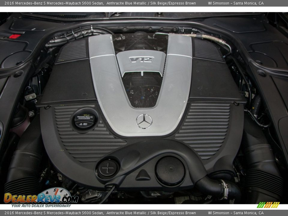 2016 mercedes benz s mercedes maybach s600 sedan 6 0 liter for Mercedes benz v12 engine