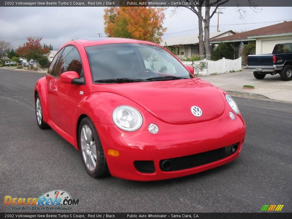 2002 volkswagen new beetle turbo s coupe red uni black. Black Bedroom Furniture Sets. Home Design Ideas