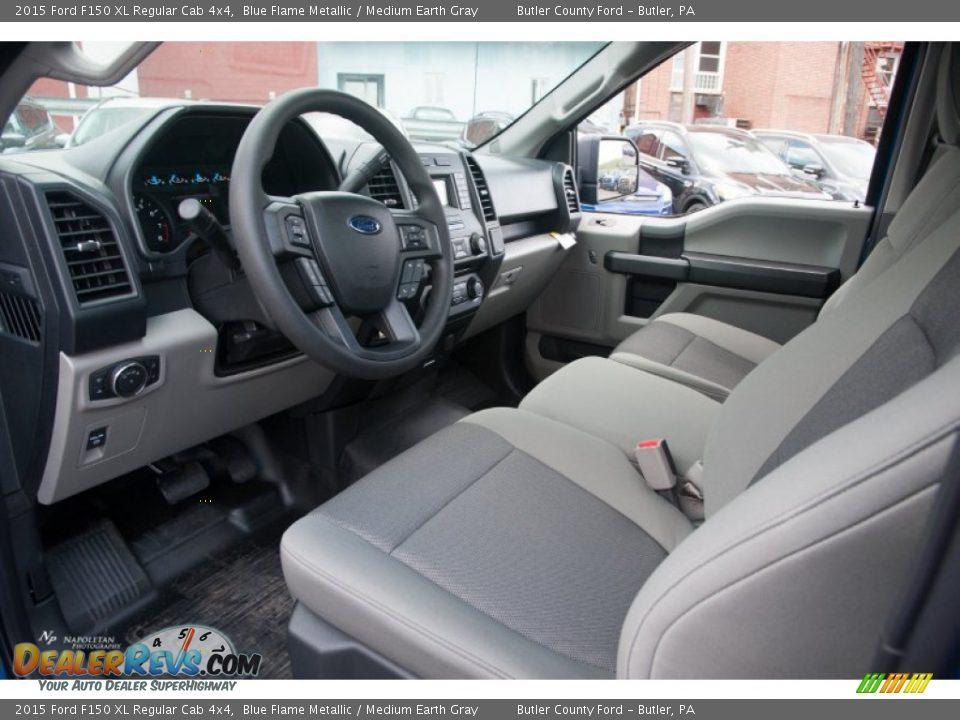 Medium Earth Gray Interior - 2015 Ford F150 XL Regular Cab ...