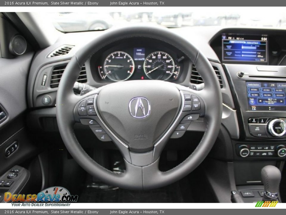 2016 Acura ILX Premium Slate Silver Metallic / Ebony Photo #24
