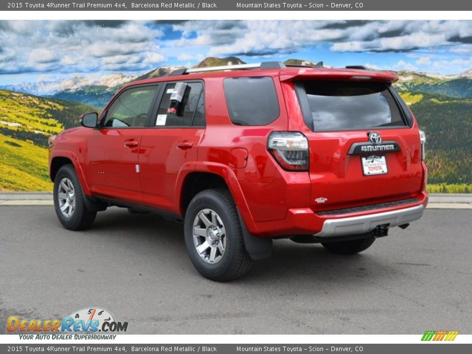 2015 toyota 4runner trail premium 4x4 barcelona red metallic black photo 3. Black Bedroom Furniture Sets. Home Design Ideas