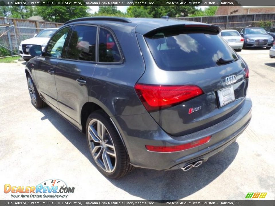 2015 Audi SQ5 Premium Plus 3.0 TFSI quattro Daytona Gray Metallic / Black/Magma Red Photo #5