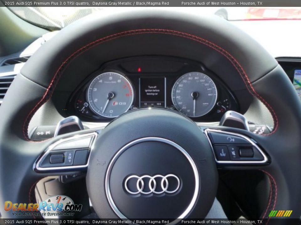 2015 Audi SQ5 Premium Plus 3.0 TFSI quattro Daytona Gray Metallic / Black/Magma Red Photo #22