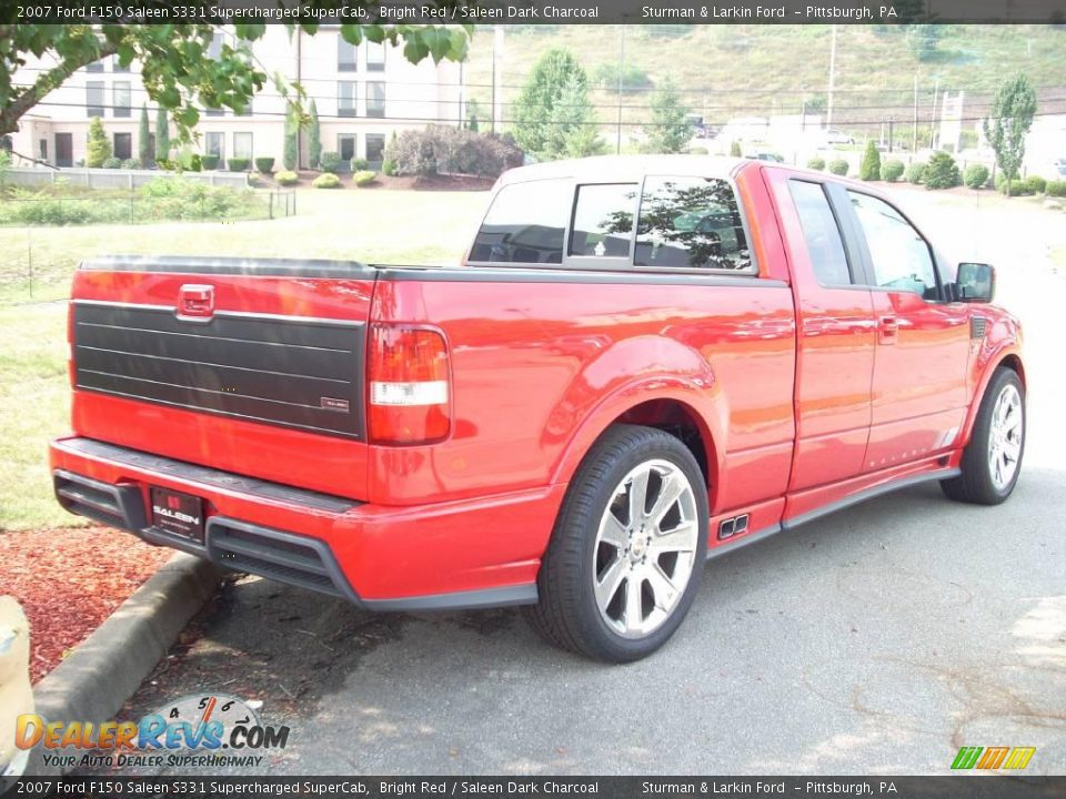 2007 ford f150 saleen s331 supercharged supercab bright red saleen dark charcoal photo 9