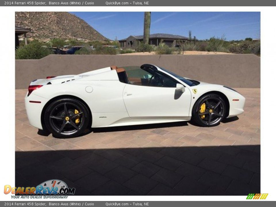 2014 Ferrari 458 Spider Bianco Avus (White) / Cuoio Photo #3