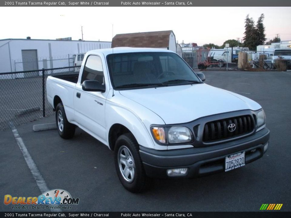 2001 toyota tacoma regular cab super white charcoal photo 2. Black Bedroom Furniture Sets. Home Design Ideas