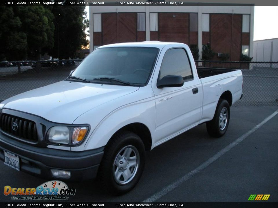 2001 toyota tacoma regular cab super white charcoal photo 3. Black Bedroom Furniture Sets. Home Design Ideas