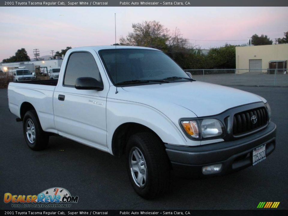 2001 toyota tacoma regular cab super white charcoal photo 13. Black Bedroom Furniture Sets. Home Design Ideas
