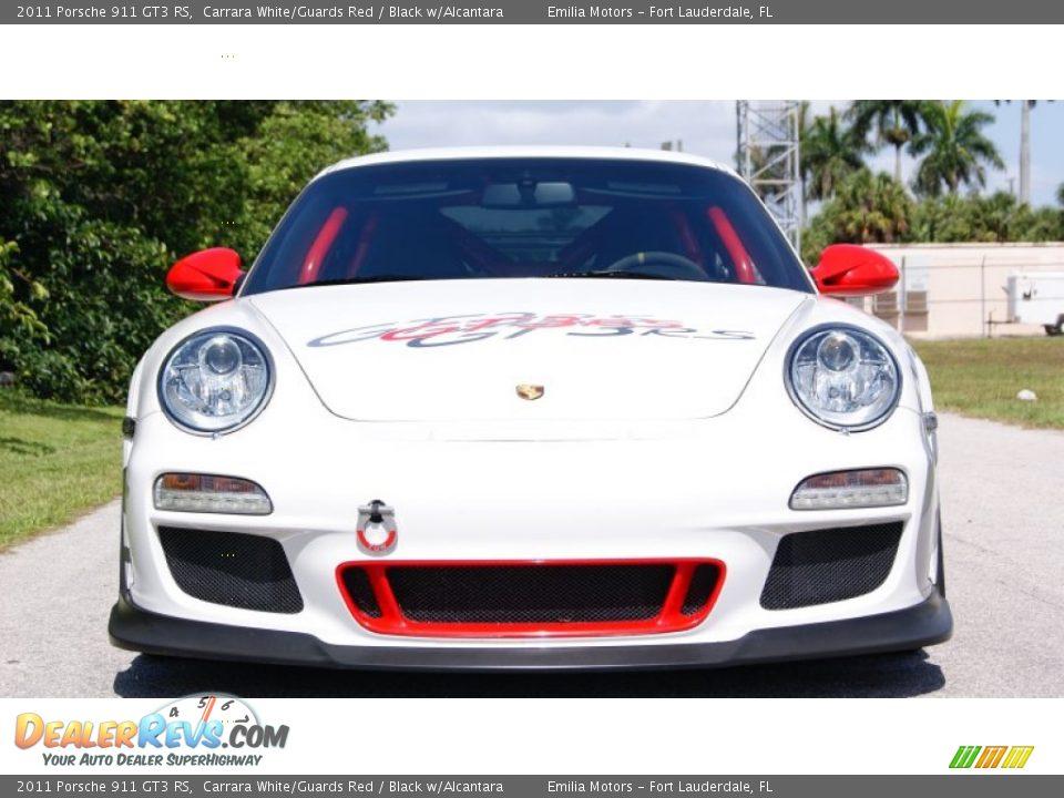 Carrara White/Guards Red 2011 Porsche 911 GT3 RS Photo #3