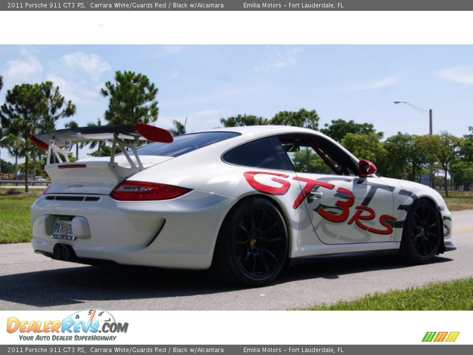 2011 Porsche 911 GT3 RS Carrara White/Guards Red / Black w/Alcantara Photo #6