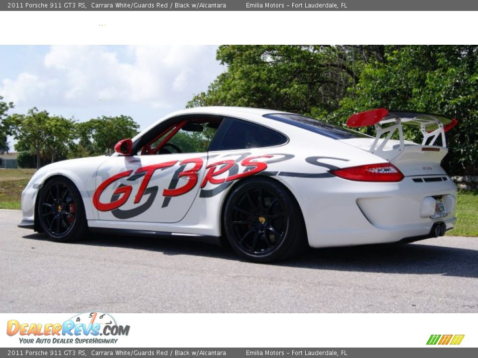 2011 Porsche 911 GT3 RS Carrara White/Guards Red / Black w/Alcantara Photo #9