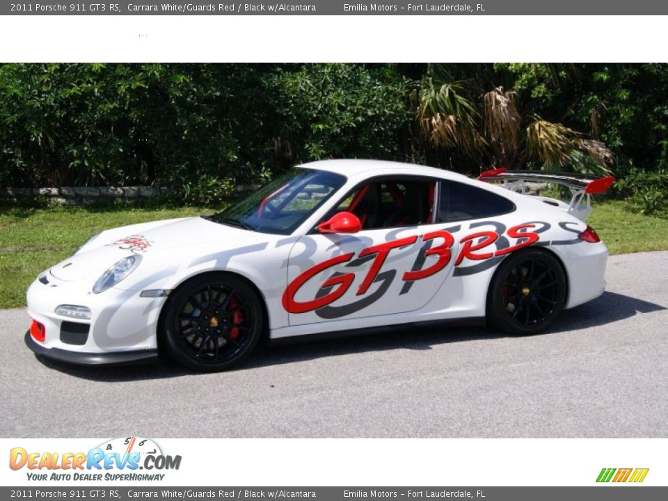 2011 Porsche 911 GT3 RS Carrara White/Guards Red / Black w/Alcantara Photo #11