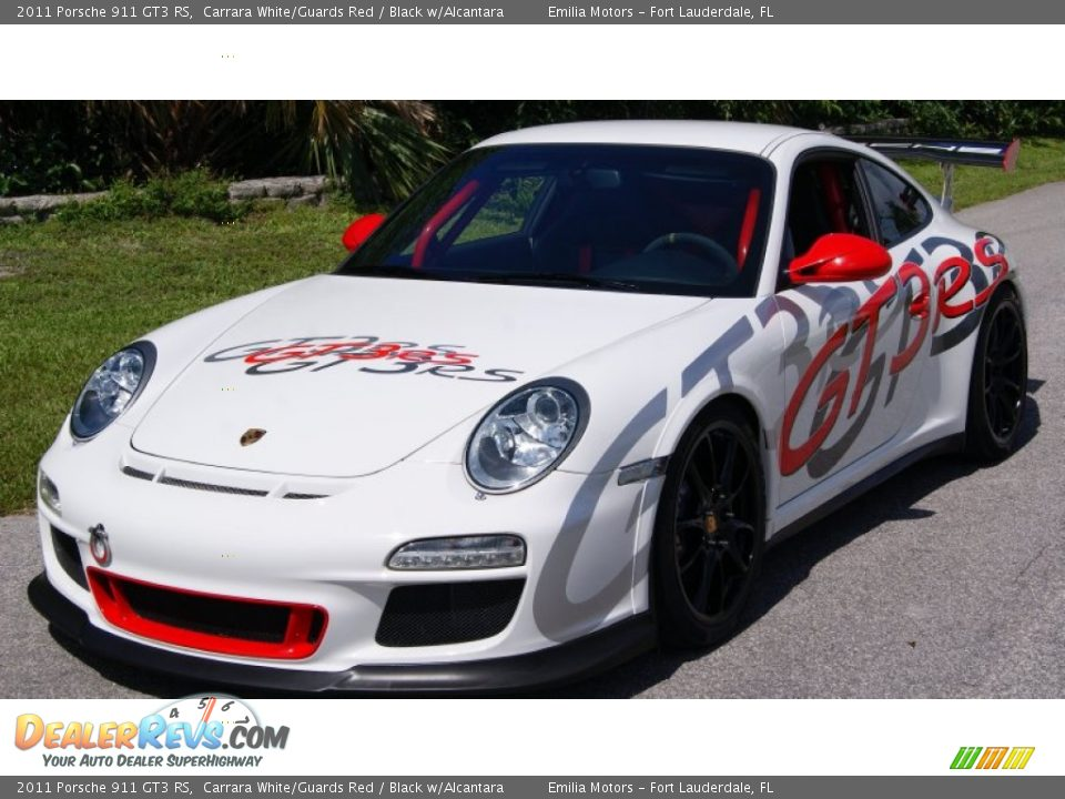 2011 Porsche 911 GT3 RS Carrara White/Guards Red / Black w/Alcantara Photo #12