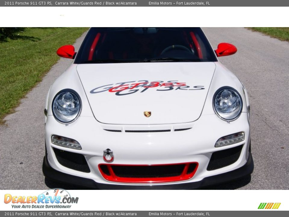 2011 Porsche 911 GT3 RS Carrara White/Guards Red / Black w/Alcantara Photo #13