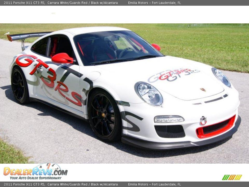 2011 Porsche 911 GT3 RS Carrara White/Guards Red / Black w/Alcantara Photo #14