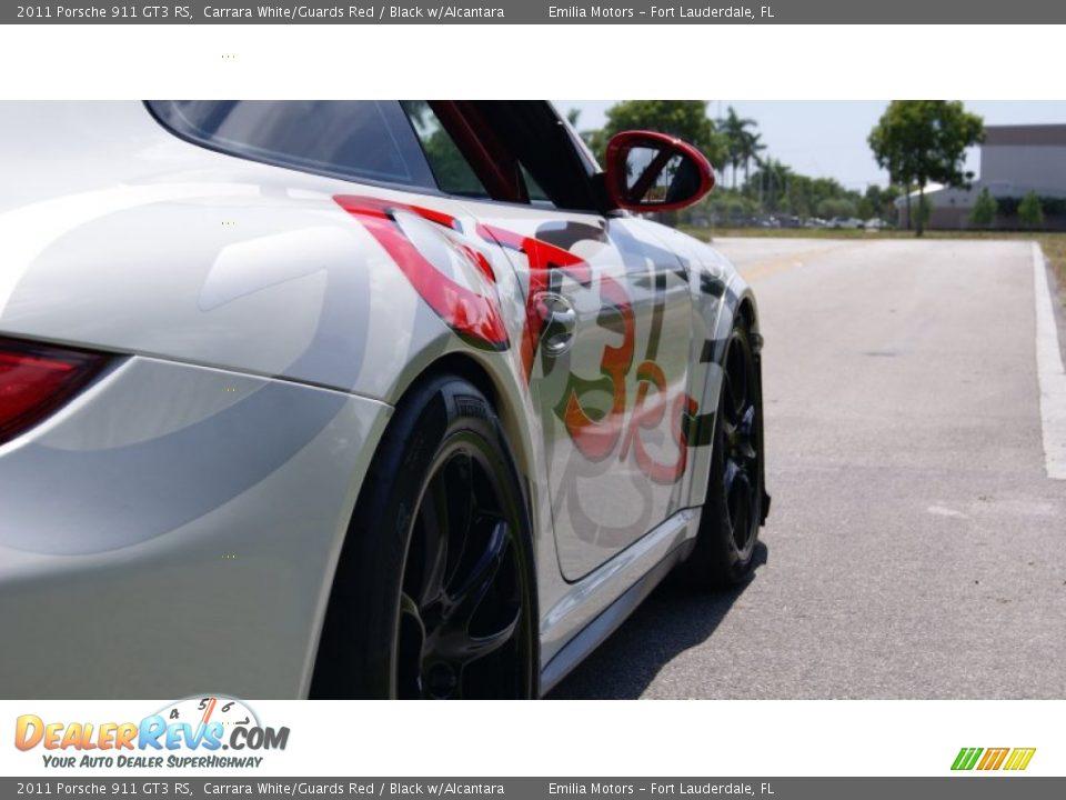2011 Porsche 911 GT3 RS Carrara White/Guards Red / Black w/Alcantara Photo #21