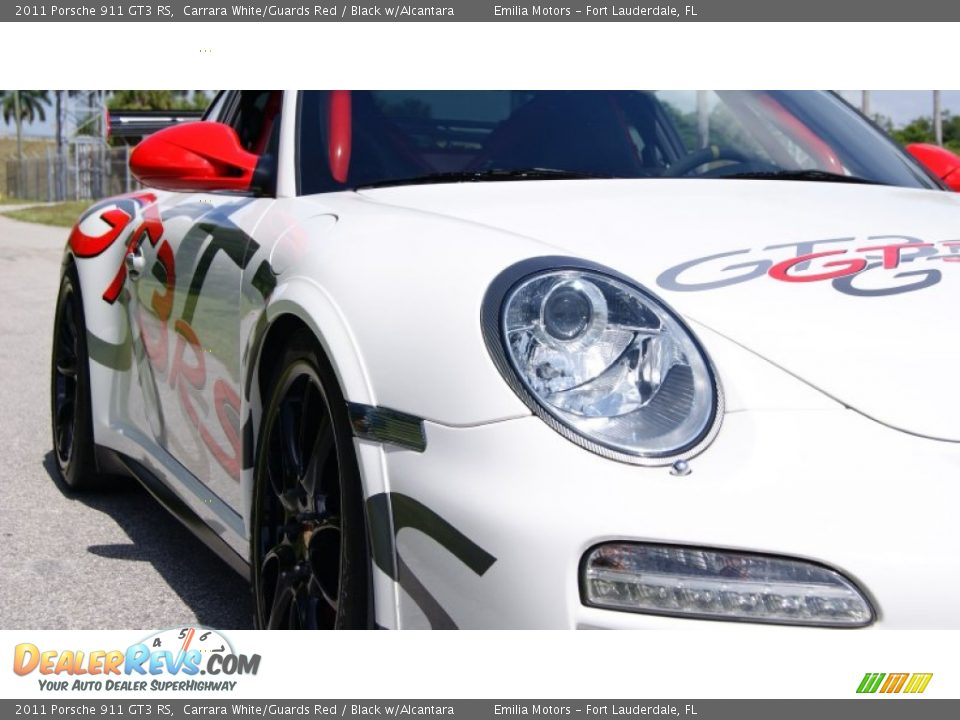 2011 Porsche 911 GT3 RS Carrara White/Guards Red / Black w/Alcantara Photo #22