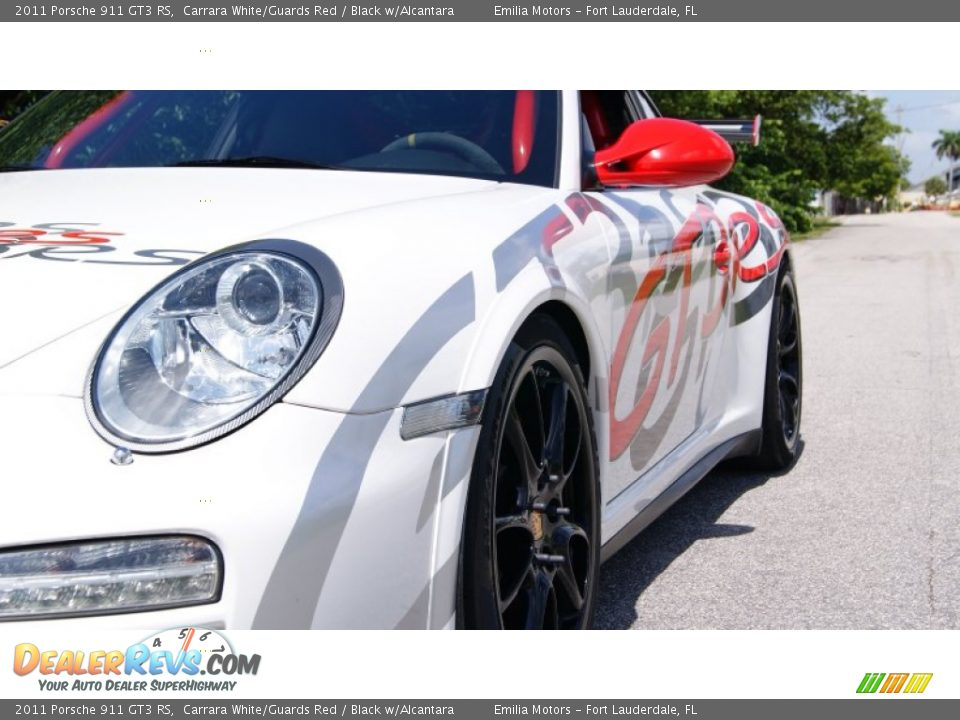 2011 Porsche 911 GT3 RS Carrara White/Guards Red / Black w/Alcantara Photo #23