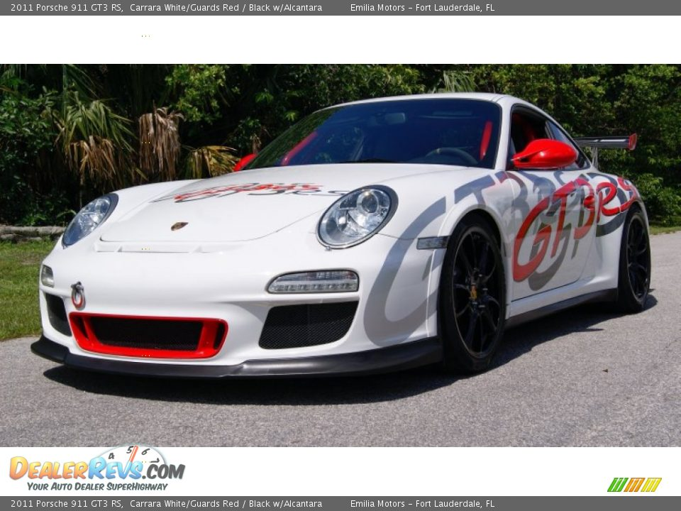 2011 Porsche 911 GT3 RS Carrara White/Guards Red / Black w/Alcantara Photo #24