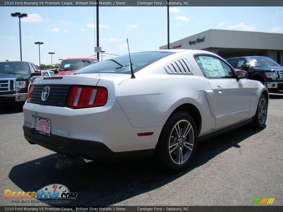 2010 ford mustang v6 premium coupe brilliant silver metallic stone. Black Bedroom Furniture Sets. Home Design Ideas