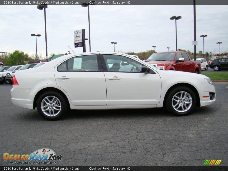 White Ford Fusion Used >> 2010 Ford Fusion S White Suede / Medium Light Stone Photo #2 | DealerRevs.com