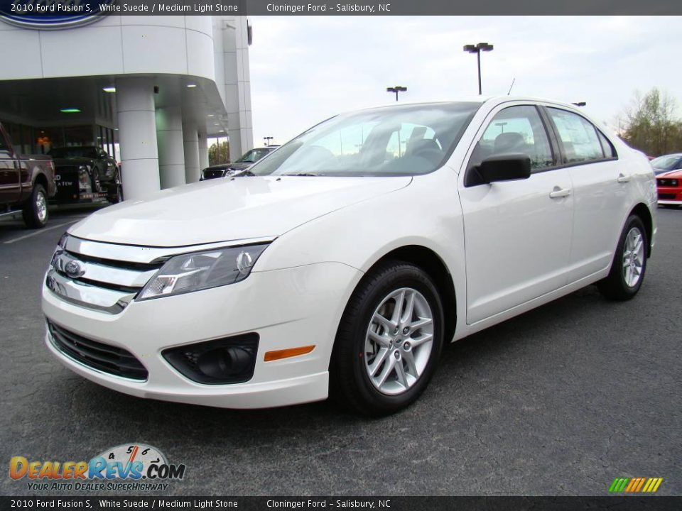 White Ford Fusion Used >> 2010 Ford Fusion S White Suede / Medium Light Stone Photo #6 | DealerRevs.com