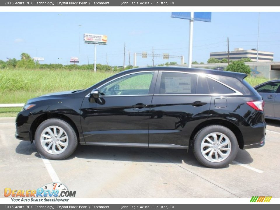 2016 Acura RDX Technology Crystal Black Pearl / Parchment Photo #4