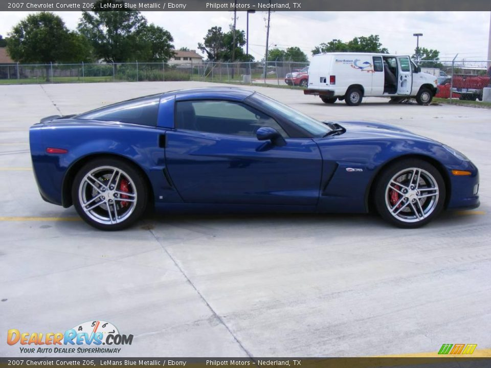 2007 Chevrolet Corvette Z06 LeMans Blue Metallic / Ebony Photo #2 ...