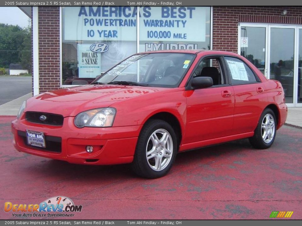 2005 Subaru Impreza 2 5 Rs Sedan San Remo Red Black