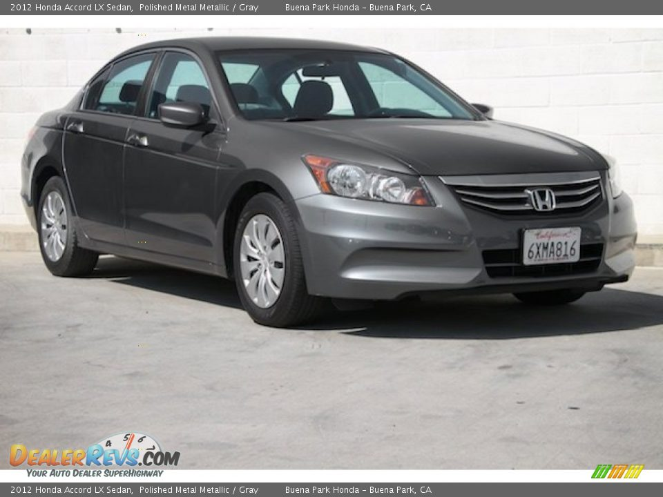 2012 Honda Accord LX Sedan Polished Metal Metallic / Gray Photo #1
