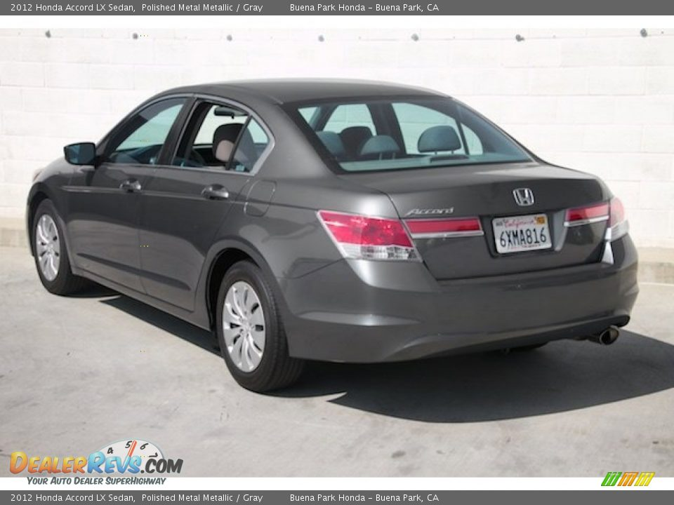 2012 Honda Accord LX Sedan Polished Metal Metallic / Gray Photo #2
