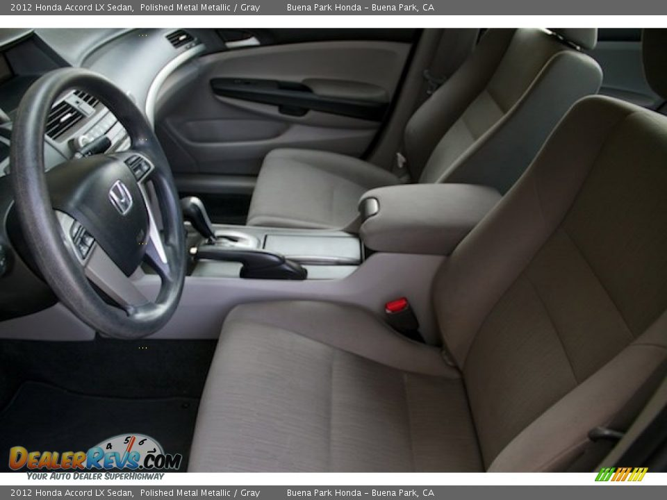2012 Honda Accord LX Sedan Polished Metal Metallic / Gray Photo #3
