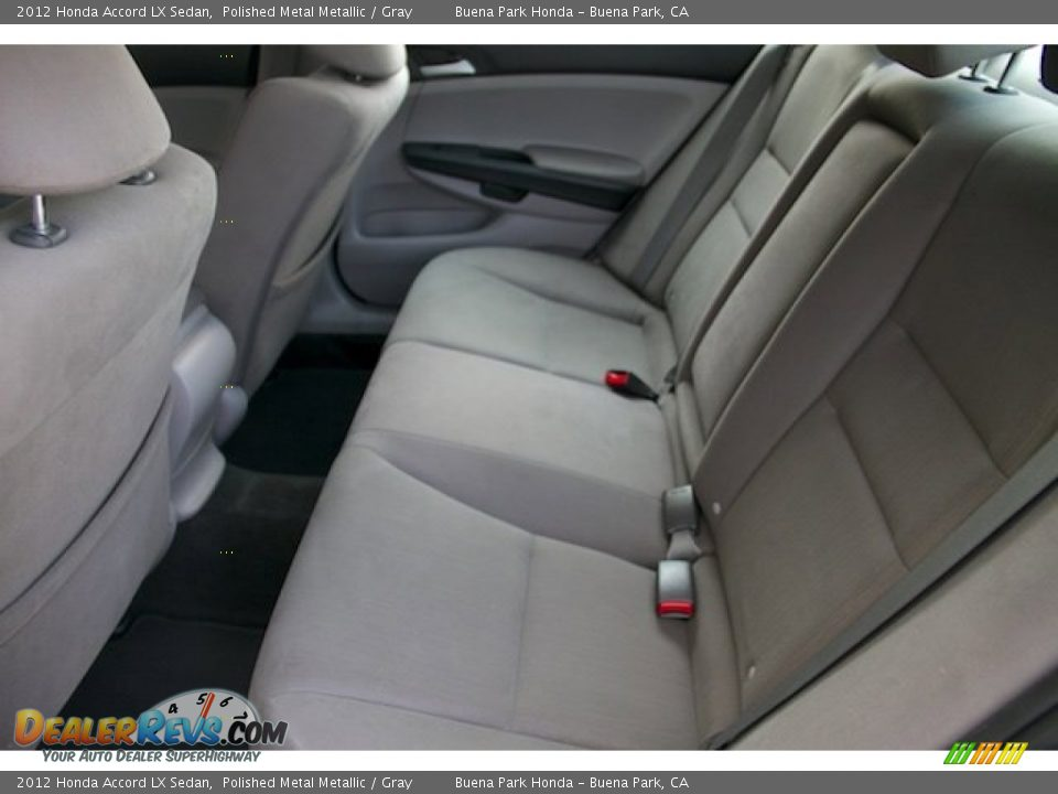 2012 Honda Accord LX Sedan Polished Metal Metallic / Gray Photo #4