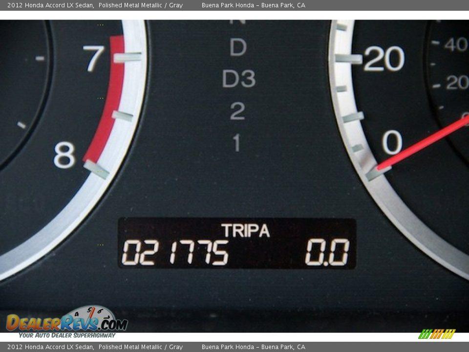 2012 Honda Accord LX Sedan Polished Metal Metallic / Gray Photo #6
