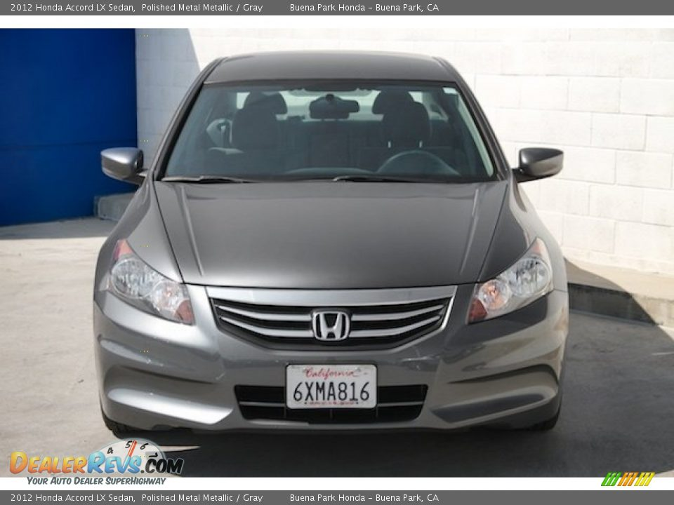 2012 Honda Accord LX Sedan Polished Metal Metallic / Gray Photo #7