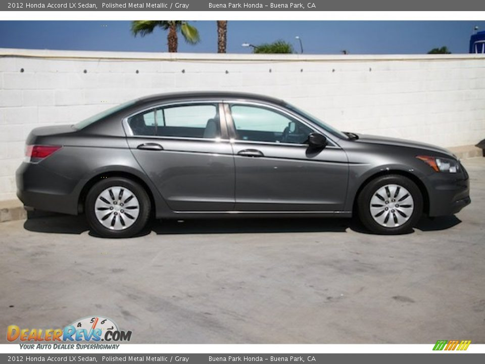 2012 Honda Accord LX Sedan Polished Metal Metallic / Gray Photo #8