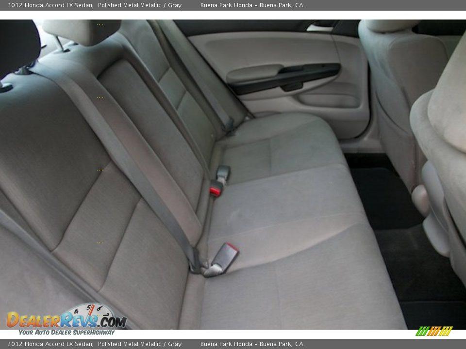 2012 Honda Accord LX Sedan Polished Metal Metallic / Gray Photo #14